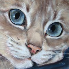 """blue eyes"" by Eline-portraits @ deviantart.com"