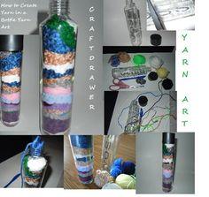 Craftdrawer Crafts: Yarn Art - Learn How to Create a Yarn Art Bottle