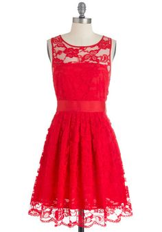 When the Night Comes Dress in Red, #ModCloth