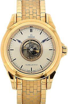 OMEGA «De Ville Tourbillon Central Chronometer» Ref. 51333.000, No.37, Original-Box, Papiere, Anle