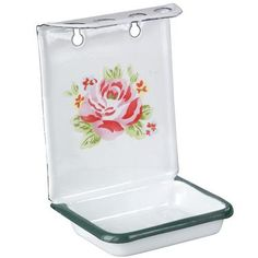 Cute vintage soap and toothbrush holder.  I love enameled items! $18.00 at Cath Kidston USA.