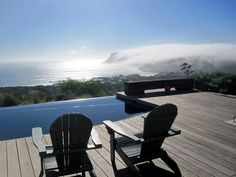 View of The Robberg from the deck at Into the Blue
