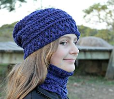 Ravelry: SarahJaneDesigns' Asperous Hat and Cowl $4.99