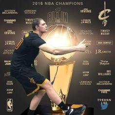 Celebrating the 2016 #NBAFinals champion @cavs with Timofey Mozgov!