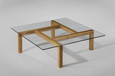 Unique Coffee Tables Styling Ideas For Your Living Room, Wood Pierre Guariche; Unique Ash and Glass Coffee Table for His Apartment,