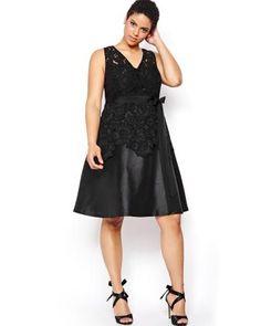 ff421503cb4 Michel Studio Peplum Lace Dress Mujeres De Talla Grande