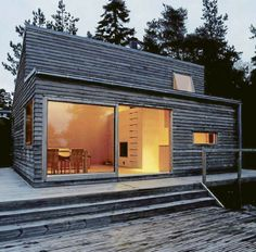 Dream scandinavian retreat prefab woody <3 want!