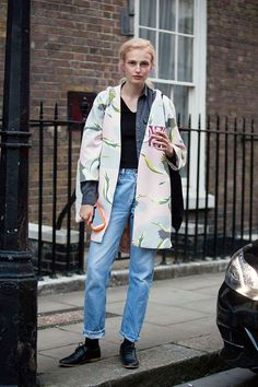 オシャレなコート。 - 海外のストリートスナップ・ファッションスナップ