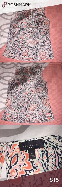 The Limited Paisley Top 100% polyester paisley top from The Limited. Size Small. Only worn once. Pairs great with a black pencil skirt for that chic business casual look. Bundle to save! The Limited Tops Blouses