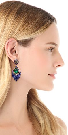 Miguel Ases Center Gemstone Earrings | SHOPBOP