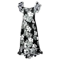 waikiki black meaaloha hawaiian dress
