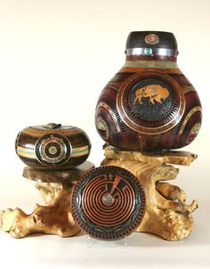 Denny Wainscott featured in July issue of Southwest Arts Magazine. Gourd Art valued over $12,0000
