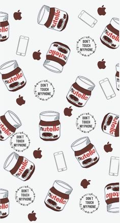 El típico fondo de nutella pero esta vez con: -Logos de Apple -iPhones (5, 5c, 5s, 6, 6+)