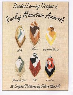 Beaded Earring Designs of Rocky Mountain Animals Booklet