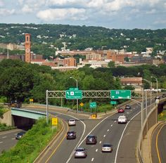 I-84 western approach to Waterbury, CT Waterbury Connecticut, Press Forward, U.s. States, Heavy Equipment, Day Trips, New England, Places Ive Been, Paths, Westerns