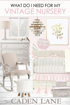 This adorable look has to be in my baby girl's room! <3