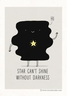 You are a star and you shine in my heart.