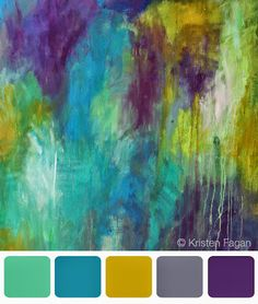 Believe it or not, I think this painting and palette could be used in a room with the color of blue walls I have. Color Inspiration by Kristen Fagan Colour Pallette, Color Palate, Colour Schemes, Color Combos, Color Patterns, Design Seeds, Colour Board, Color Stories, Color Swatches