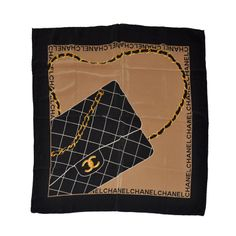 "Chanel ""Quilted Handbag"" Silk Crepe de Chine Scarf 
