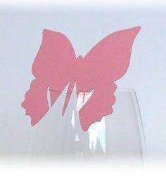 10x Tischkarten Hochzeit Schmetterling pink - Tischkarten, Platzkarten, Namenskarten, Platzkartenhalter: Amazon.de: Küche & Haushalt, 4,45 €