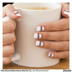 "CLICK ""MINX"" TO PURCHASE Ukrainian Embroidery Nail Art Roses Minx® Nail Wraps"