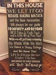 Disney Quotes Wood Sign