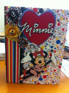 Minnie Mouse scrapbook. Kathy Orta inspired.