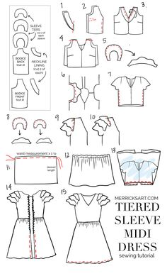 Merrick's Art | DIY Tiered Sleeve Midi Dress Tutorial