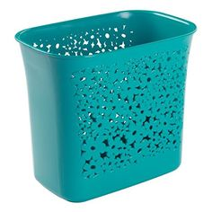 InterDesign 59537 Blumz Wastebasket Trash Can for Bathroom Kitchen Office  Teal ** Find out more about the great product at the image link.