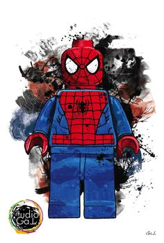 SPIDERMAN AVENGERS FIGURINE ART DESIGN Lego Spiderman, Lego Marvel, Batman Room, Superhero Room, Spiderman Tattoo, Lego Tattoo, Lego Wall, Lego Room, Lego Birthday Party