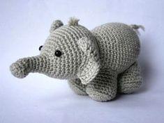 вязаный слон амигуруми
