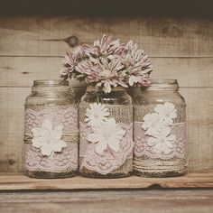 Hey, I found this really awesome Etsy listing at https://www.etsy.com/listing/173067699/3-pink-lace-and-burlap-wedding