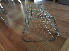 Repurpose recycle reuse lampshade frame with chicken wire would be new life for a busted lamp shade with chicken wire lighting window treatments keyboard keysfo Images