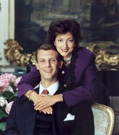 Prince Joachim with his first wife Akexandra Denmark Royal Family, Danish Royal Family, Alexandra Manley, Princess Alexandra Of Denmark, Danish Prince, Danish Royalty, Casa Real, Royal Engagement, Purple Reign