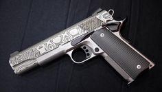 Christensen Arms Damascus 1911 .45 with carbon fiber grips