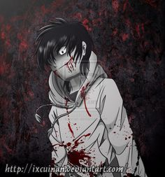 Otro fanart de Jeff The Killer by Ixcuinan on deviantART