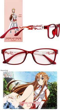 "Aichi-based glasses/contact lens company Nihon Optical today started offering five types of collaboration PC glasses with popular anime series Sword Art Online, named ""Sword Art Online PC Frame Produc Sword Art Online Pc, Buy Art Online, Sword Art Online Cosplay, Kirito Asuna, Internet Art, Unique Paintings, Kawaii, Art Background, Magazine Art"