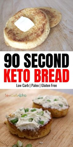 Easy 90 second microwave mug bread. Low carb keto gluten-free and Paleo microwave recipe Easy 90 second microwave mug bread. Low carb keto gluten-free and Paleo microwave recipe Easy Low Carb Bread Recipe, Lowest Carb Bread Recipe, Low Carb Recipes, Healthy Recipes, Healthy Foods, Flour Recipes, Keto Foods, Clean Recipes, Free Recipes