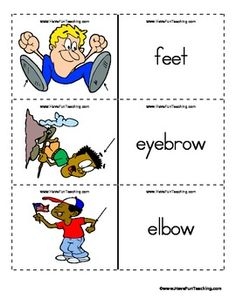 Part Of the body in advance way for Kids to easily understand.