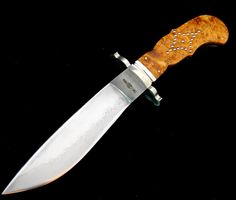 Kevin A Willey bowie studded handle and forged W2 blade