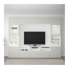 best combinaison rangt tvvitrines blanclappviken gris clair verre transparent glissire - Meuble Tv Ikea Lack Blanc