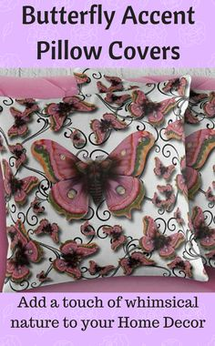 I love Butterflies, I cant deny it. These pillow covers are very cute, love the design of course and the colors are ok, just not much of a pink person myself but Butterflies....haha..Butterfly Pillow Cover. Antique Filigree Throw Cushion Case. Decorative Toss Accent for Her Floor, Bed, Sofa, Chair, Living Room or Dorm..#ad #etsy #bedroom #livingroom #dorm #bedding #pillows