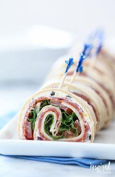 Italian Sub Sandwich Roll-ups from @inspiredbycharm