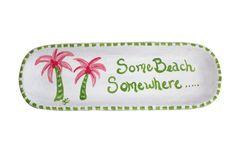 Some beach somewhere... Pink Palm Tree Decorative Beach Tray.