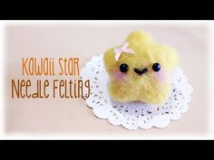 Learn how to make this adorable / kawaii star inspired by the super mario star using needle felting. It a very japanese needle felting influence to it and it. Sharpie Crafts, Dyi Crafts, Crafts To Do, Hobbies And Crafts, Sewing Crafts, Sewing Ideas, Kawaii Felt, Kawaii Diy, Kawaii Crafts