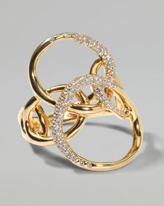 $4,000.00  --  Drizzle Gold Diamond Petal Ring by Ippolita at Neiman Marcus.