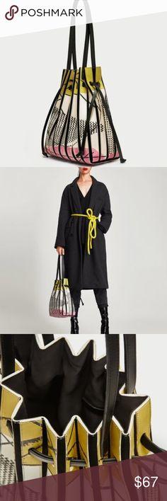 Zara printed leather bucket bag NWT Mod style Zara printed leather bucket bag NWT Zara Bags