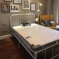 宜家铁艺床 宜家床双人床公主床环保铁床铁架床新品 出租房床厂家-淘宝网