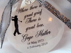 Father Memorial Ornament, Loss of Parent, Tribute to Dad, Christmas Glass Ornament with free Personalization and Charm Memorial Ornaments, Glass Christmas Ornaments, Tribute To Dad, Own Quotes, How To Make Ornaments, Red Glass, Father, Menu, Pai
