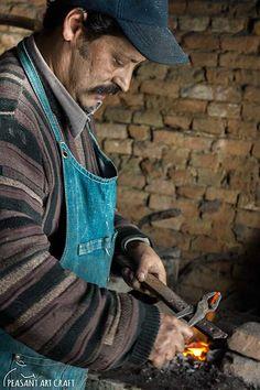 Blacksmith Gabor Istvan from the Village of Viscri Making a Horse Shoe #romania #viscri #transylvania #blacksmith #farrier